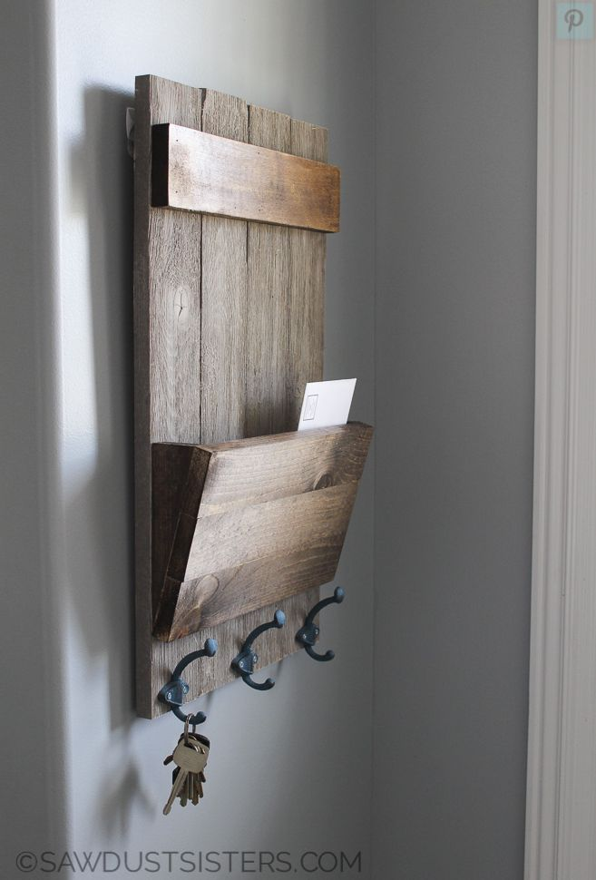 wall key holder DIY woodworking projects